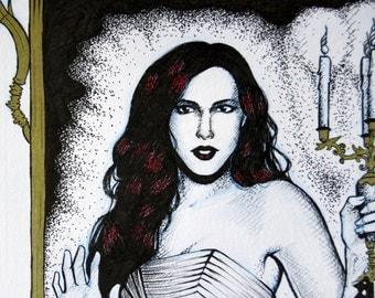 Original Illustration, 'Golden Mirror'.