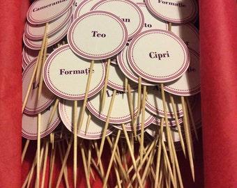 50 Wedding name tags
