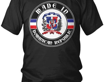 Made in Dominican Republic Men's T-Shirt, DR, Dominican Pride, Santo Domingo, Country Flag Crest, Men's Slovakia Shirts AMD_2096