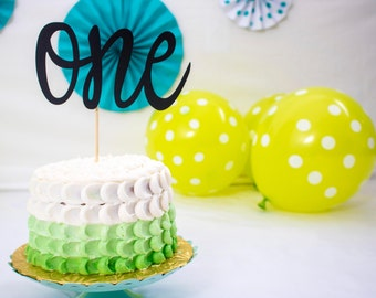 Cake Topper - First Birthday - One Cake Topper