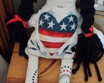 Patriotic Rag Doll