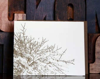 Letterpress Tree Greeting Card