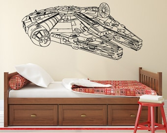 Star Wars Wall Decal Etsy - Vinyl decals for walls etsy