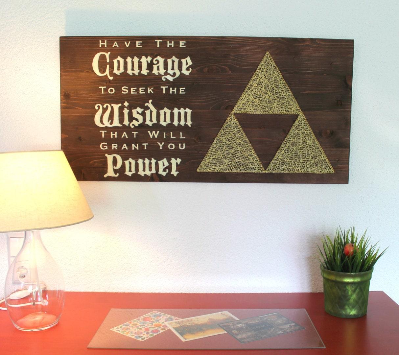 Zelda Wall Decoration : The legend of zelda triforce string art sign wall decor