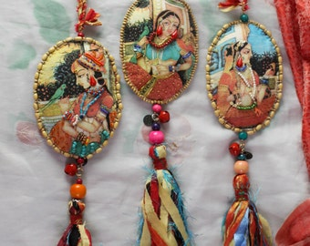 Decorative Tassels with portraits of Princess Mogul