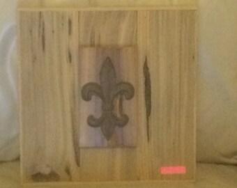 Custom Sinker Cypress Frame with Cast Iron Fleur-di-Lis