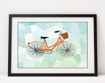 BicycleIsh: Giclee Print, Art Print, Arrows, Bicycle, Wall Art, Wall Decor