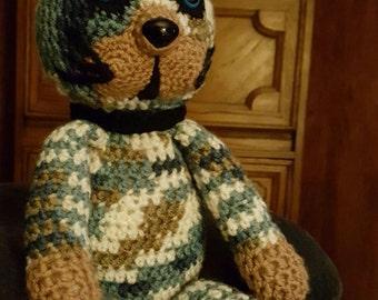 Blue Crochet Cat