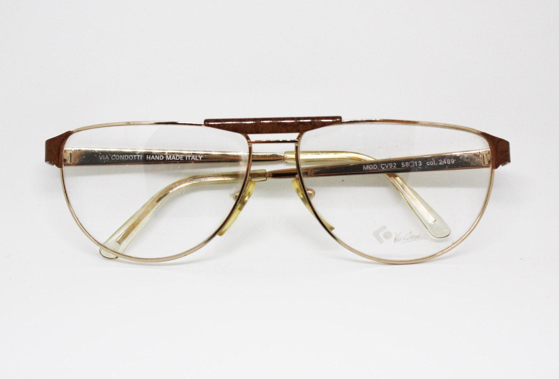 0cc13fc0476 90s eyewear VIA CONDOTTI half lunettes double bridge enammeled wood effect