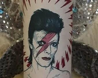 Ziggy Stardust prayer candle