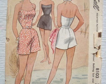 vintage 8103 McCall BATHING SUIT sewing pattern