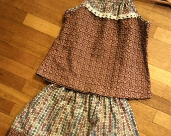 Cute Tie-up top and Skirt