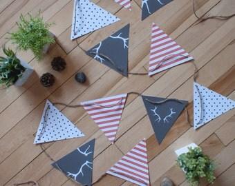 Fanions_Bois De Cerf | banderole | décoration | cerf | bois | fanions | festif | impression | flag banner | flag | decoration | print