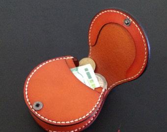 Handmade leather coin-purses