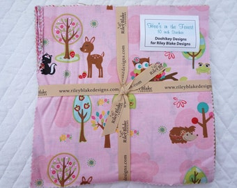 Hoo's in the Forest - Layer Cake - 23 pieces - Doohikey Designs - for Riley Blake Fabric