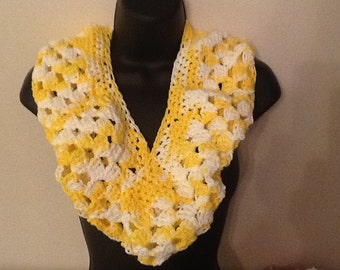 Spring infinity scarf perfect for Easter multi yellow