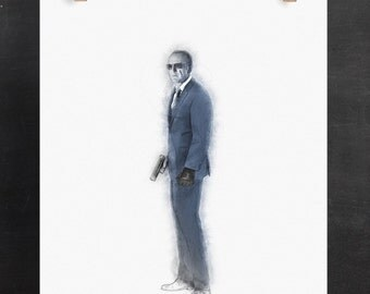 Agents of Shield Poster, Agent Coulson Art Print:  (Marvel Inspired Digital Pencil Sketch)