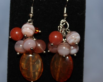 Fiery Agate Drop Earrings