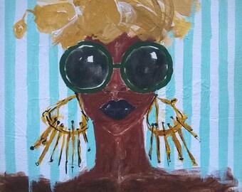 """Painting. """"A Golden Queen"""""""
