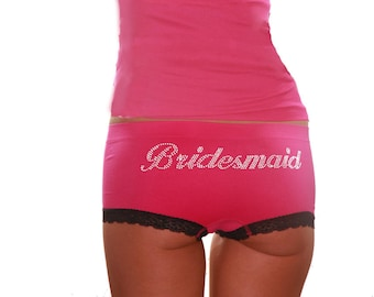 Bridesmaid Rhinestone Underwear