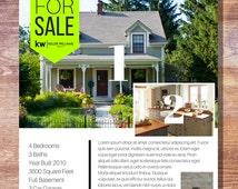 Modern Banner Real Estate For Sale Flyer - 2 Photos