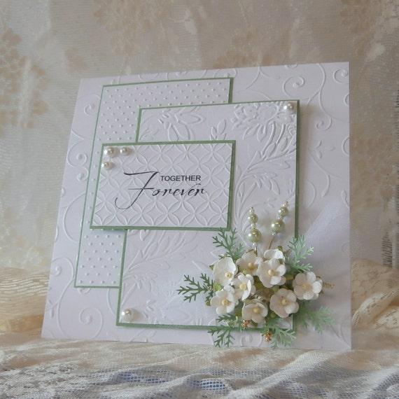 wedding card  elaborate  beautiful handmade card  embossed