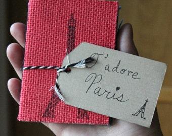 J'adore Paris Mystery Burlap Pack of 3