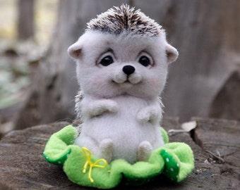Hedgehog toy felted wool