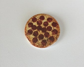 Pepperoni Pizza Pinback Button