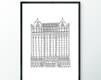 The Plaza Hotel - New York City - Building Illustration