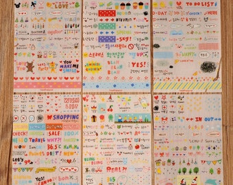 6 sheets of stickers for decorating and scrapbooking