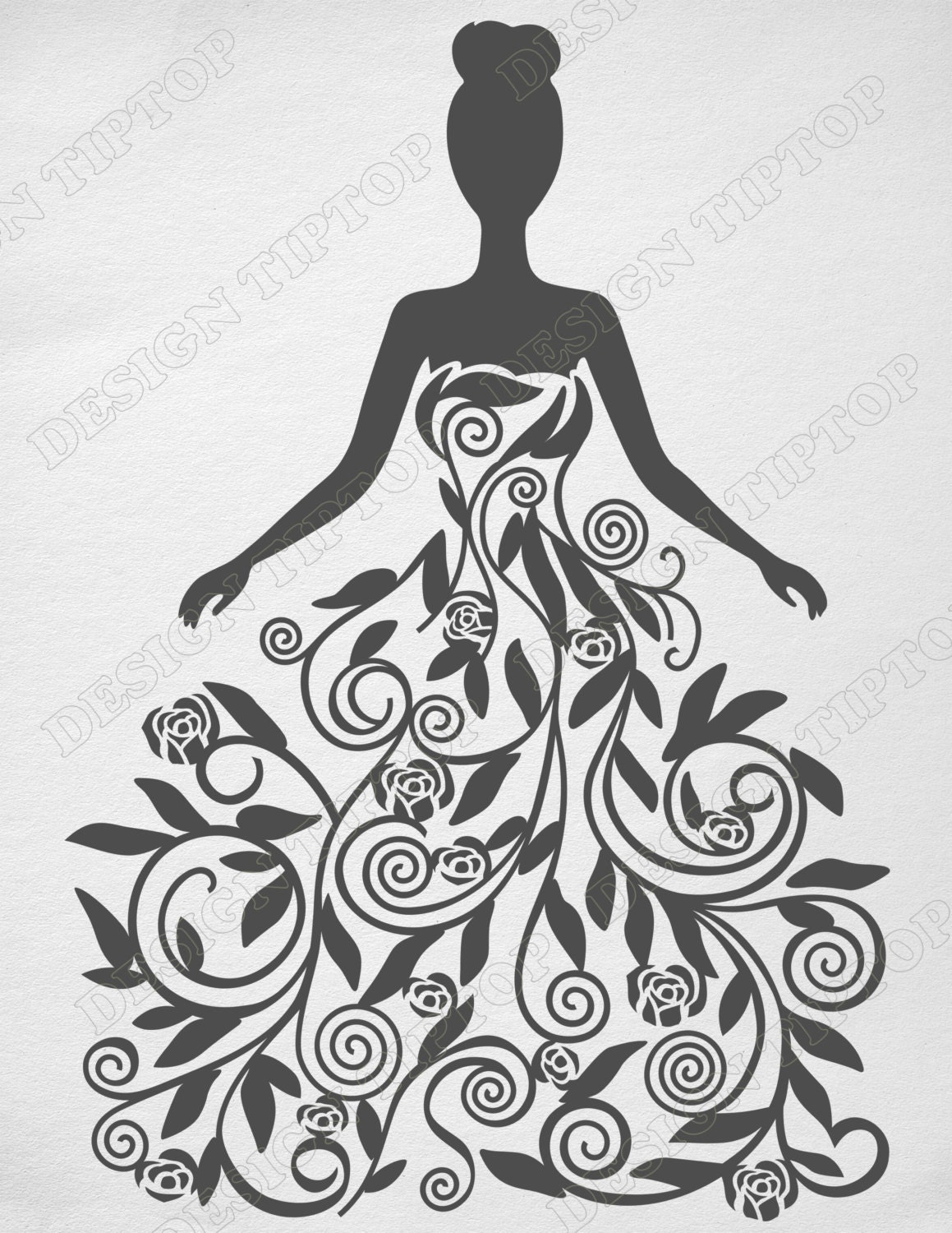 Flower Girl Svg Dxf Png Eps Princess Svg Print And Cut