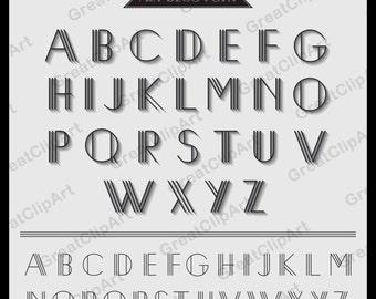 52 art deco font retro alphabet geometric letters retro letters gatsby font digital fonts png alphabet alphabet clip gatsby alphabet
