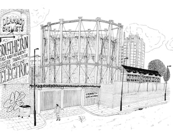 Vauxhall gas holder A3 size