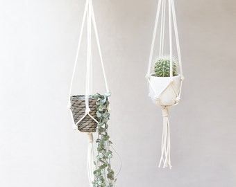 Macrame Plant Hanger - Knotted Plant Hanger - Hanging Planter - Macrame Plant Holder - Pot Hanger - Macrame Hanging Planter - 37 inches