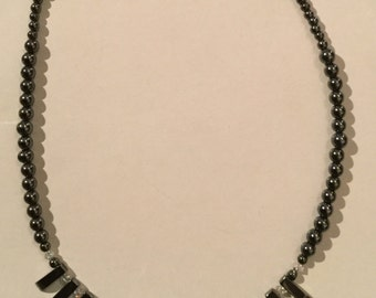 Hematite and Swarovski Crystal Collarette