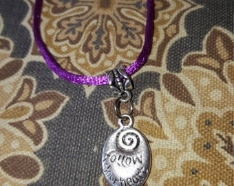 Charm Follow your heart necklace
