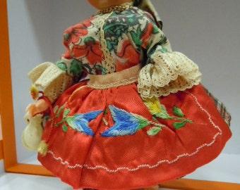 Vintage souvenir doll/doll vintage Portugal Nazaré