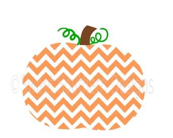 Chevron pumpkin SVG instant download design for cricut or silhouette
