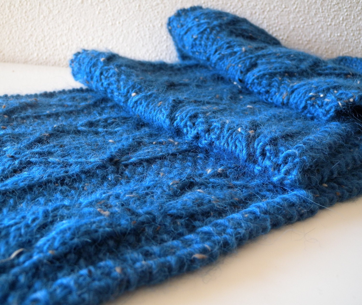 Quick Men s Scarf Knitting Pattern : Knitting Pattern for lace scarf in bulky wool and alpaca yarn, unisex scarf f...