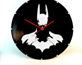 Batman, Wall clock, The Dark Knight, Vinyl clock, Superhero clock, Wall art, Marvel art, Batman art, Home Decor, MiniDotClocks