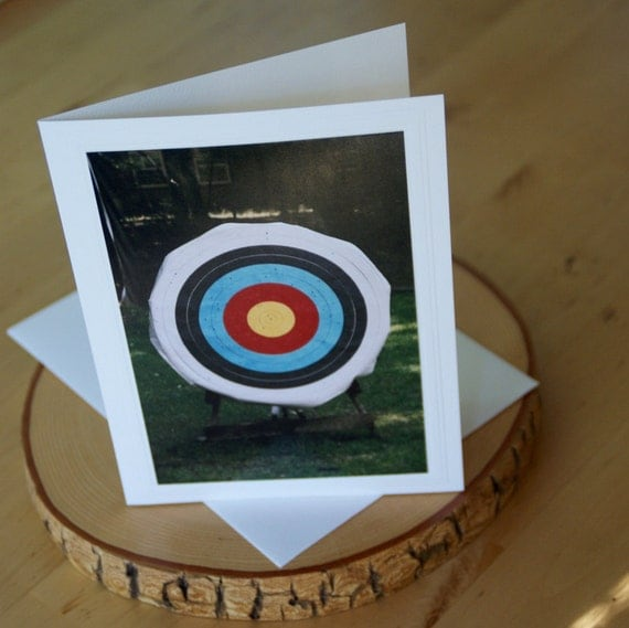 Photo Greeting Card Archery Target Unique By
