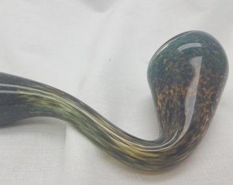 Sea Green Glass Sherlock Tobacco Pipe