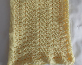Hand Crafted Crochet Lace Baby Blanket