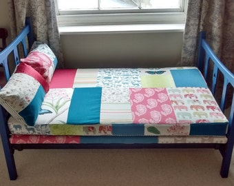Patchwork reversible day bed