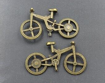 5pcs Bike Charm Antique Bronze Tone 51x29mm - BH170
