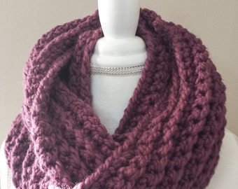 Serenity - Warm Chunky Oversized Infinity Scarf Cowl Double Wrap, Wool scarf, ready to ship, price reduction
