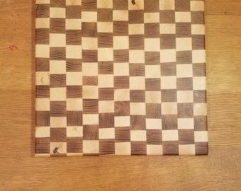 Wooden Checkerboard Cutting Board