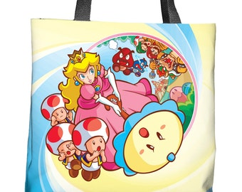 Super Princess Peach Tote Bag