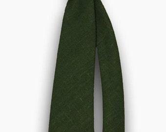 Tie - Green linen